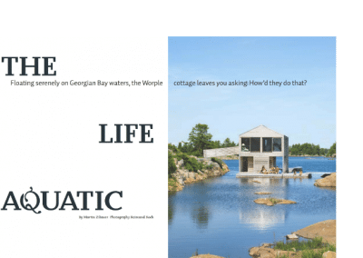 Floating cottage feature
